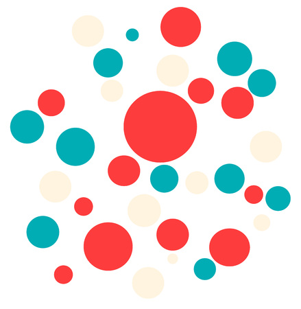 red blue beige balls are randomly placed on a white background, can be a design element, screensaver, print, web design, textiles, accessories 版權商用圖片