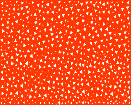 bright orange print chaotic small triangles, design element, screensaver, print for textiles, shirts, hoodies Vectores