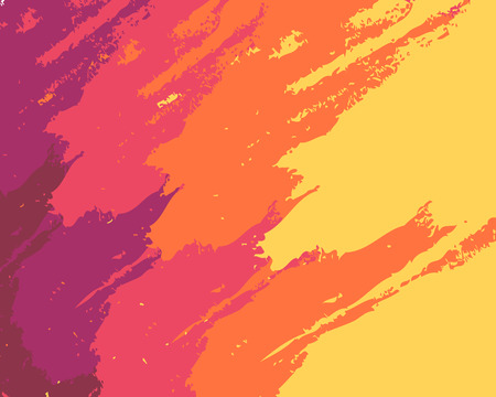 Vector paint, yellow orange pink brush stroke, brush, line or texture. Dirty art design element, box, frame or background for text. Grunge Roller. Vector brush stroke . Sorry banner. Modern textured shape. Convex lines.