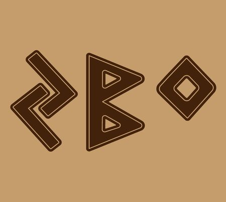 The rune symbolizes fertility.The choice of runes for your talisman, the main power of the runes to apply them to the talisman. 스톡 콘텐츠