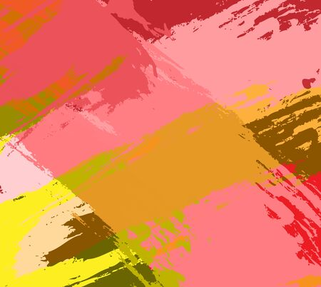 Vector abstract background brush stroke hand painted. Minimal vector cover design. Yellow pink backgrounds as a modern pattern for design.