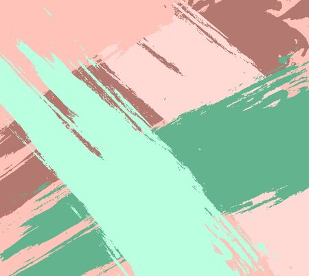 Vector abstract background brush stroke hand painted. Minimal vector cover design. Brown, green, pink backgrounds as a modern pattern for design.