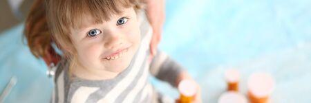 Smiling kid in hospital
