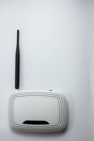 white router on a white background internet 스톡 콘텐츠