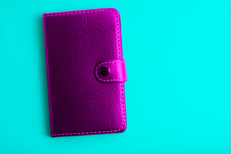 purple notepad on a blue background design