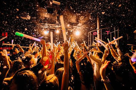 Crowd concert public dancing