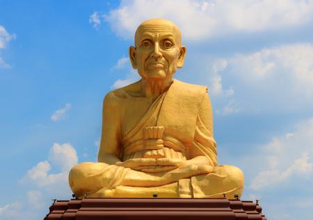 statue of Luang Phor Thuad Ayutthaya,Thailand