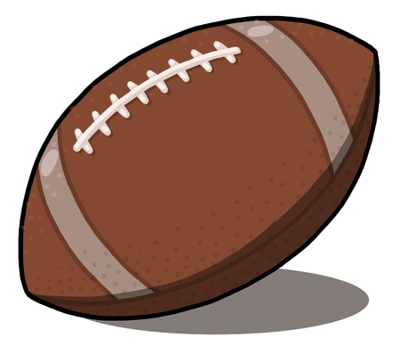 American Football ball Illustration; rugby ball illustration Stock Photo