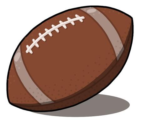 American Football ball Illustration; rugby ball illustration 版權商用圖片