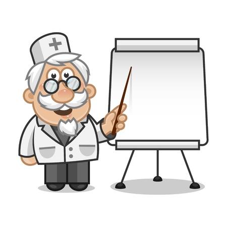 prophylaxe: Doktror Punkte auf einem Flip-Chart