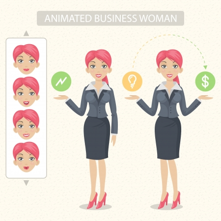 Business woman tells and represents Stock Vector - 20192864