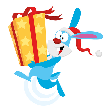 Bunny holding a gift Stock Vector - 22900372