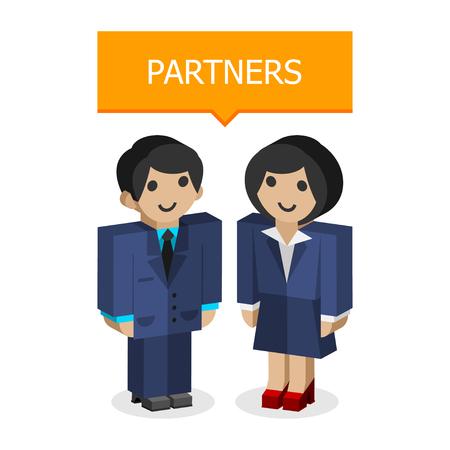 Businessmen partners
