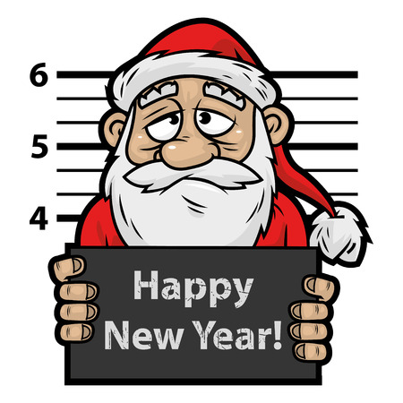 Santa Claus prisoner Stock Vector - 22900378