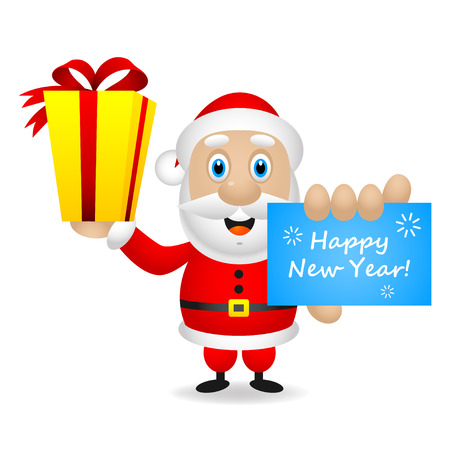 Santa wishes you a happy new year Stock Vector - 22900380