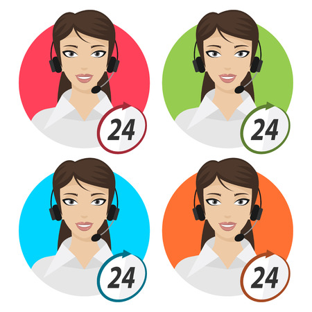 telephone operator: Girl telephone operator 24