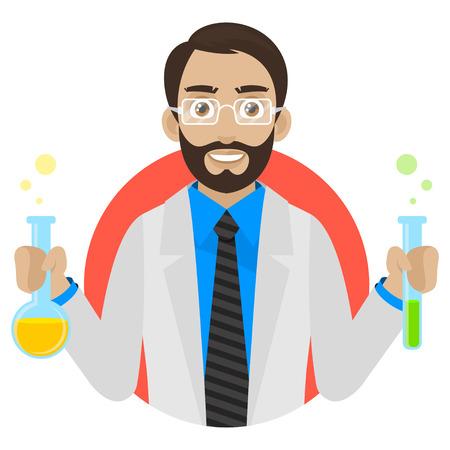 keeps: Scientist keeps test tubes in circle