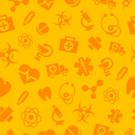 Pattern medical monochrome icons Vector