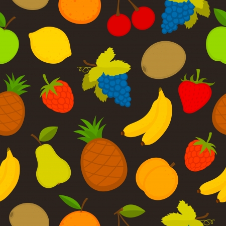 Pattern set of vector fruit Vector