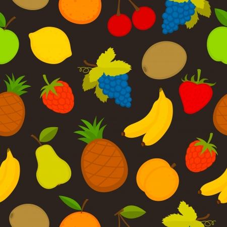 banana sheet: Pattern set of vector fruit