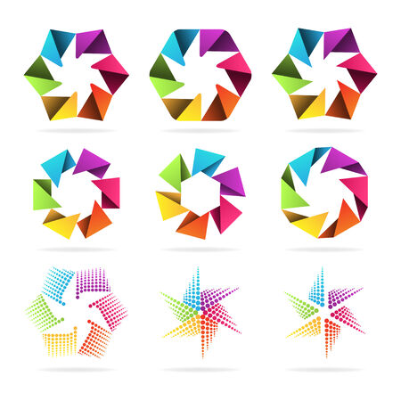 Set of abstract signs Stock Vector - 24680956