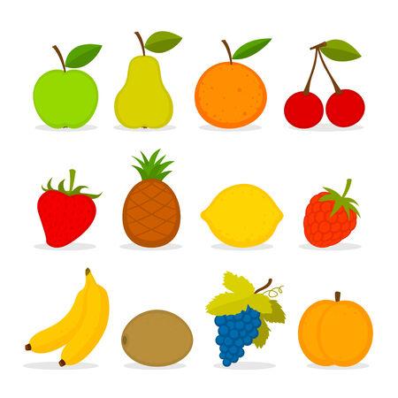banana sheet: Set of vector fruit