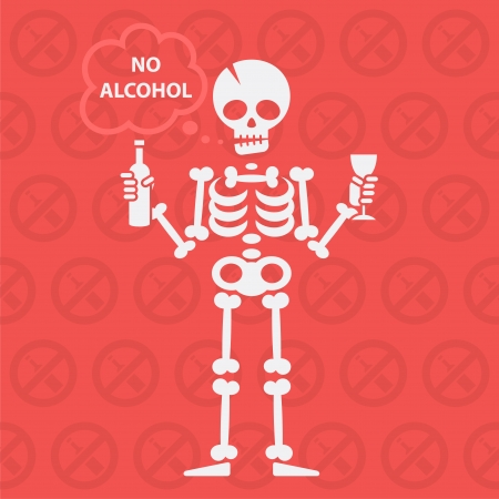Concept on theme no alcohol Vector