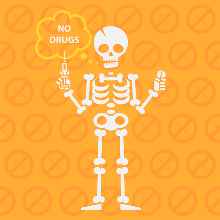 Concept on theme no drugs