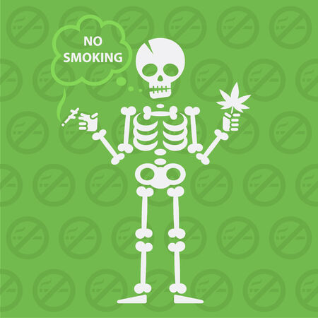 Concept on theme no smoking Vector