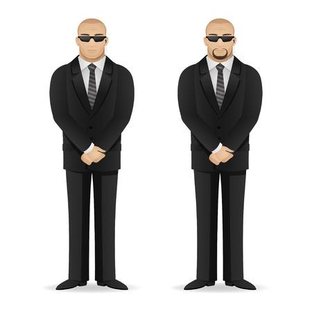 Bodyguard se encuentra en pose cerrado Foto de archivo - 25331547