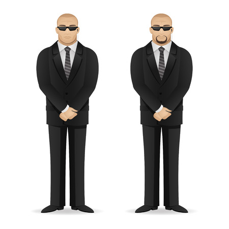 bodyguard: Bodyguard stands in closed pose