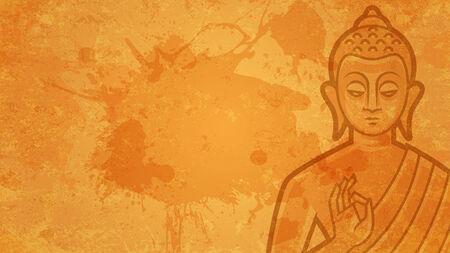 meditates: Background Buddha meditates