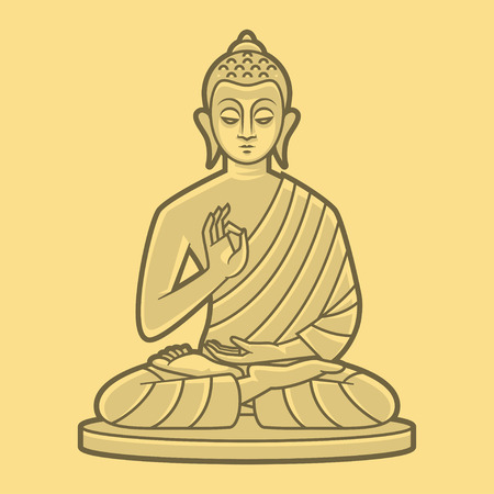 Buddha meditates Illustration