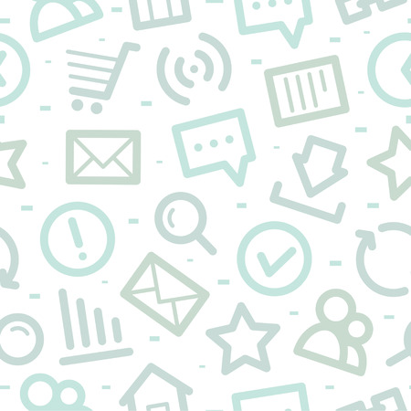 Internet icons pattern Vector