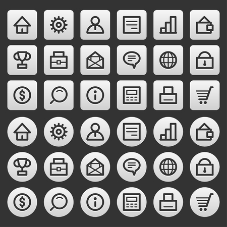 dollar sign icon: Gray icons set business finance