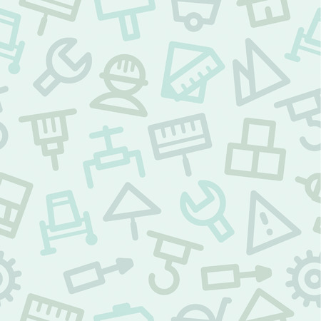 Pattern icons set repair construction Vector