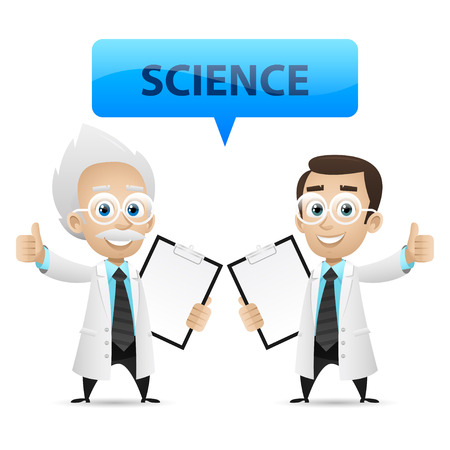 Scientists showing thumb up Stock Vector - 26561519