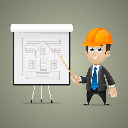 flipchart: Builder men points on flipchart