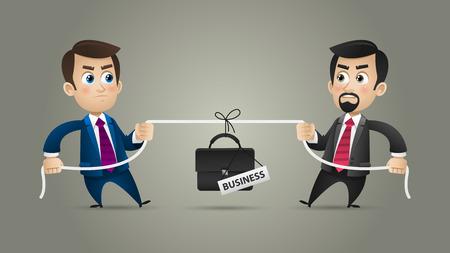 ビジネスのコンセプト ビジネスマン競争  イラスト・ベクター素材