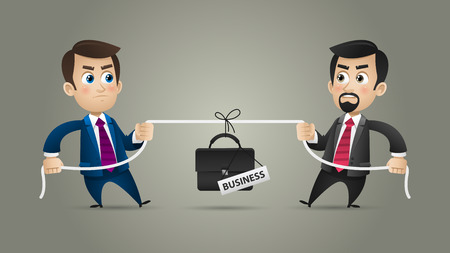 Concept businessmen competition in business Illustration