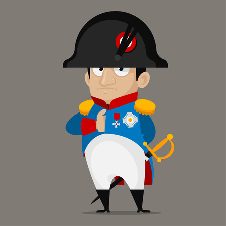 Napoleon Bonaparte cartoon character 免版税图像 - 28498891