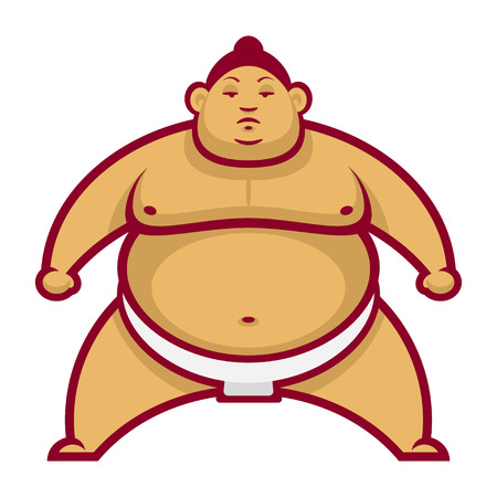 Sumo wrestler in rack Vector