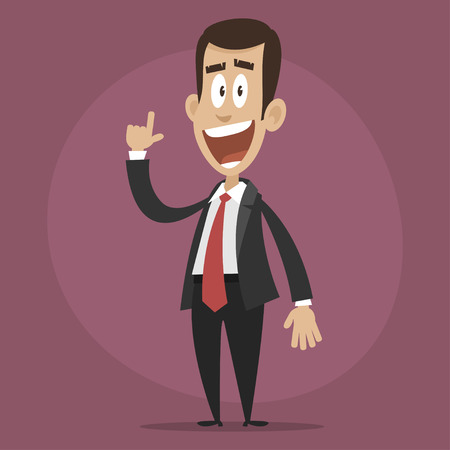 coined: Happy businessman coined idea