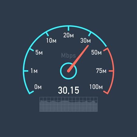 スピード メーター速度インターネットのトラフィック