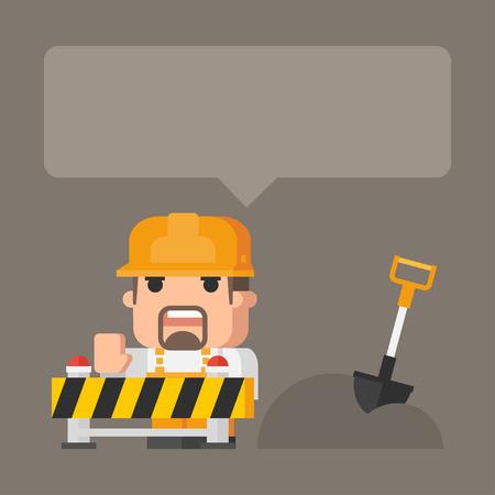 oncept: ?oncept construction works Illustration