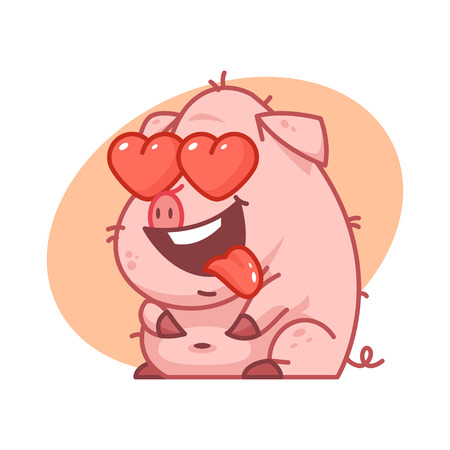 pigling: Pig character in love