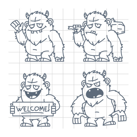 abominable: Bigfoot wicked good with cudgel doodle