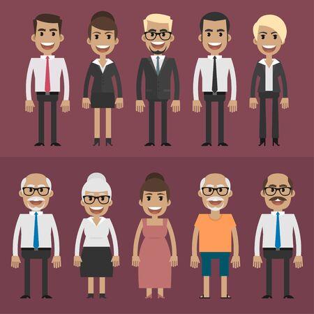 grupo de pessoas: Grupo pessoas empres Ilustra��o