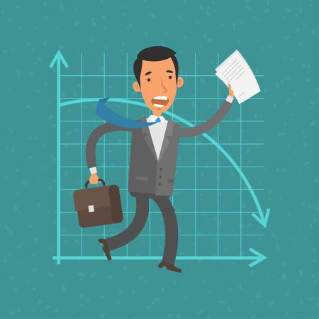 gerente: Hombre de negocios Concepto y colapso