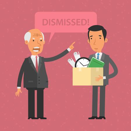 dismissed: Head dismissed employee man